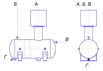 Емкость для газа (чертеж)